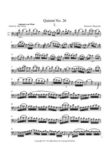 Quintet No.26 in B Flat Major – Solo Bass Part