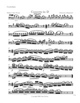 Concerto in D for double Bass and Piano, solo bass part - Domenico Dragonetti